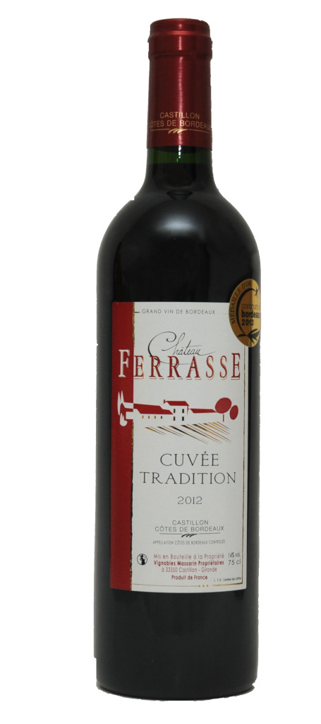 vin rouge chateau ferrasse Tradition 2012